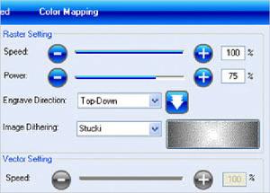 Laser etching settings